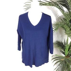 Lane Bryant Blue Ribbed Sweater Womens 14/16